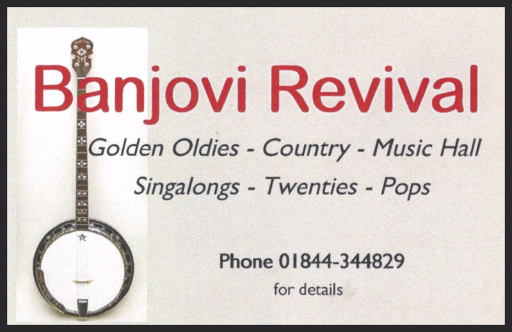 Banjovi Revival, Banjo Band, Golden Oldies, Country, Music Hall, Singalong, Twenties, Pop, www.banjovi.co.uk