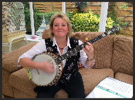 Jenny Everett - Plectrum Banjo Player, member of Banjovi Revival