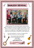 Advert for Banjovi Revival - Can be downloaded and printed out to display on Notice Boards
