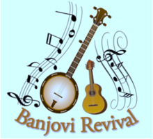 www.banjovi.co.uk, Banjovi Revival, Logo, Music Entertainment, Local Clubs, Day Centres, Buckinghamshire